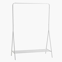 Clothes rail LYNGDAL white