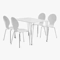 Miza BANNERUP D120 + stol TOMMERUP