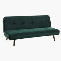 Καναπές-κρεβάτι JUVRE σκούρο πράσινο
