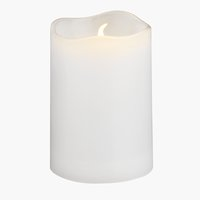 Candle SOREN D5xH8cm white w/LED