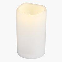 Candela SOREN Ø8xH10cm bianca con LED