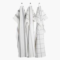 Kjøkkenhåndkle FLEKKMURE 50x70 3 stk ass