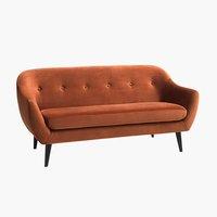 Canapea 2,5 locuri catifea portocalie