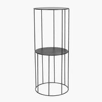 Piedestal PELLE Ø25xH60cm svart