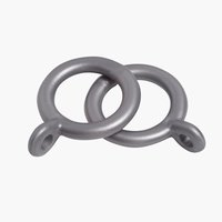Curtain ring BALL D13-16mm 10 pack grey