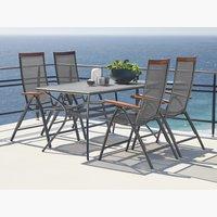 LARVIK стол 150см + 4 стула