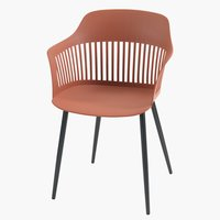 Chair RAVNEBAKKE plastic/steel wine red