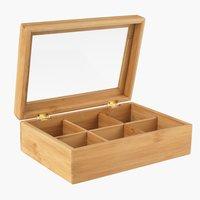 Κουτί για τσάι STORM Π17xΜ3xΥ8cm ξύλο