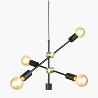 Pendant TORSTEIN black excl. light bulbs