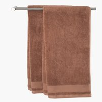 Hand towel NORA light brown