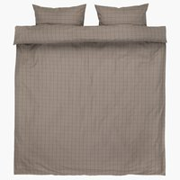 Bedding set TANJA Yarn dyed DBL khaki