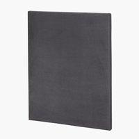 Sänggavel 90x115 H10 PLAIN grå-34