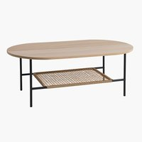 Coffee table HINNERUP 75x120 light oak