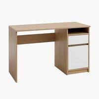 Íróasztal BILLUND 54x120 fehér/tölgy