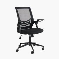 Chaise de bureau ASPERUP noir