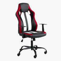 Chaise gaming HAVDRUP noir/rouge