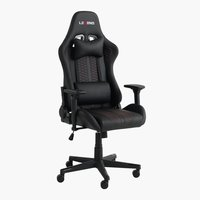 Chaise gaming NIBE noir/rouge