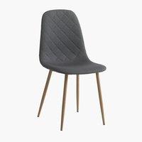 Blagovaonska stolica JONSTRUP siva/hrast