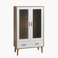 Display cabinet GAMMELGAB 1 drw oak/wh.