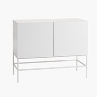 Sideboard LADBY 2 doors pattern white
