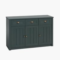 Sideboard MARKSKEL 3 doors dark green