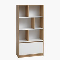 Bookcase BILLUND white/oak