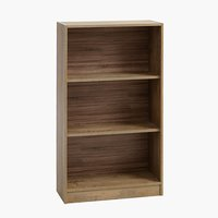 Bookcase HORSENS 3 shelves wide wild oak