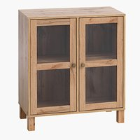 Display Cabinet SKALS glass doors oak