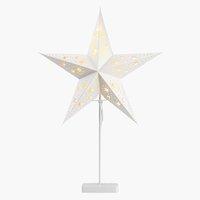 Stjerne GULDTOP B45xL19xH66cm hvid m/LED