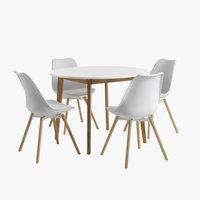 Miza JEGIND + 4 stoli KASTRUP