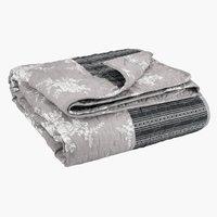 Plaid KORNBLOMST 140x200 patchwork grijs