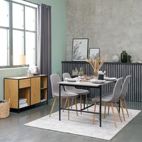 TERSLEV L140 + 4 UK JONSTRUP grey/oak