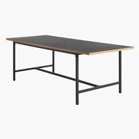 Jedilniška miza EGUM 90x220 črna/hrast