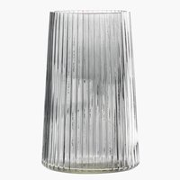 Vase ROY D13xH20cm glass grey