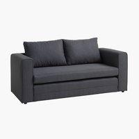 Sofa bed SKILLEBEKK dark grey