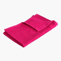 Asciugamano ospite LIFESTYLE rosa scuro