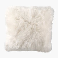 Coussin TAKS 45x45 fausse fourrure blanc