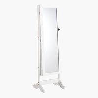 Miroir avec placard LONE 145x42 blanc