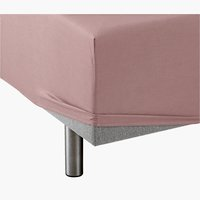 Fitted sheet DBL taupe KRONBORG