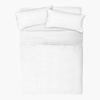 Funda almohada 2x45x85 blanco