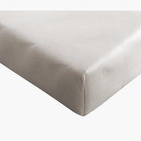 Drap-housse satin 90x200x30cm gris