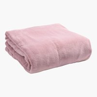 Plaid UNI DE LUXE polaire 140x200 rose