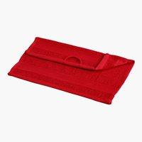 Toalha de rosto CLASSIC LINE vermelho