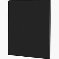 Sengegavl H10 PLAIN 90x115 svart-10