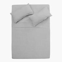 Funda almohada 45x67 2 uds gris claro