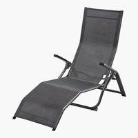 Chaise longue LAS VEGAS 63x138 gris