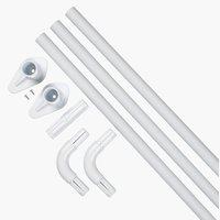 Barra cortina ducha VARA 90x90x90 blanco