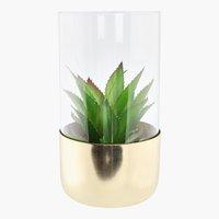 Planta artif. KARLANTON Ø9x17cm c/vaso