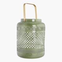 Teelichthalter KARLSON Ø15xH20cm grün