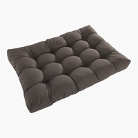 Coussin palette SKJERPE 120x80 taupe